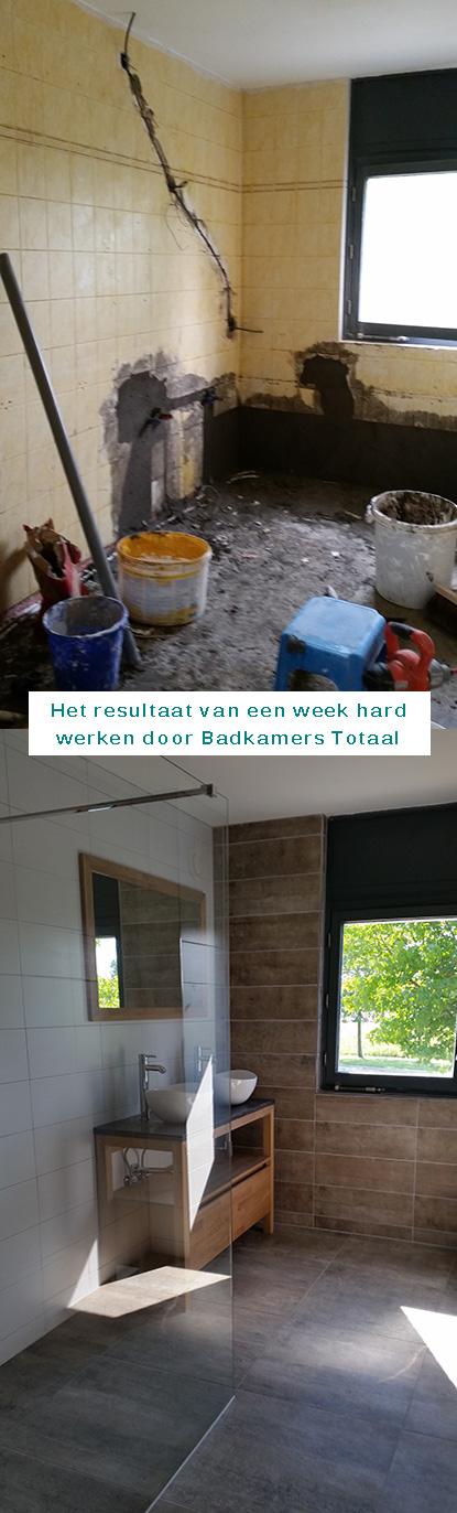 Badkamer vervangen